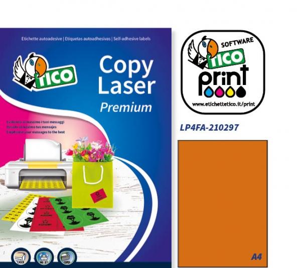 Bianco Tico LP4P-10572 Etichetta in Poliestere 105 x 72